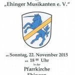 Kirchenkonzert Ehinger Musilkanten