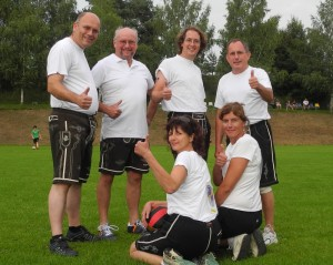 Sport in Lederhosen - Bild